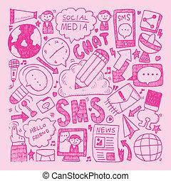 doodle communication background