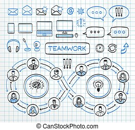 doodle, concept., negócio