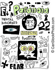 doodle concept of paranoia