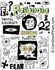doodle concept of paranoia