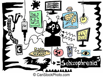 doodle concept schizophrenia