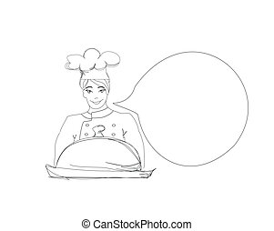 doodle Cook on a white background