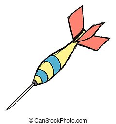 doodle darts vector icon