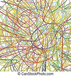 doodle, desenho, crianças, seu