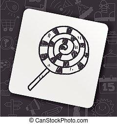 doodle, desenho, doce