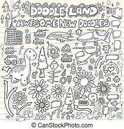 Doodle Design Elements Vector set