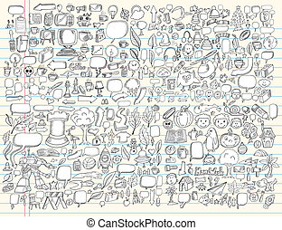 Doodle Design Elements Vector set