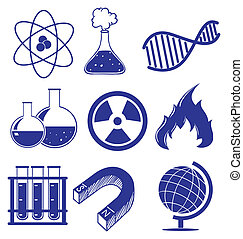 Doodle design of the different science images - Illustration...