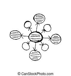 Bubble diagram doodle icon on volume light vector doodle diagram icon drawing illustration design ccuart Images