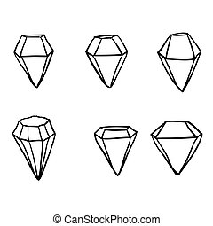 doodle diamond illustration vector collection