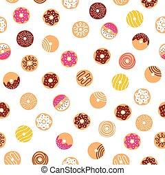 Doodle donuts fun pattern