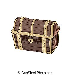 doodle dower chest isolated on white background