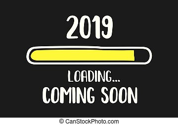 Doodle Download bar,2019 coming soon loading text