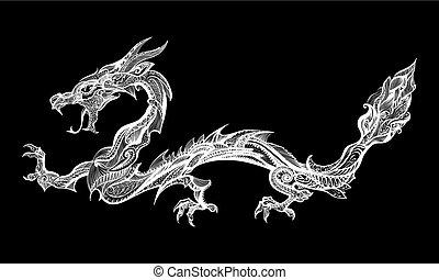 doodle, dragão