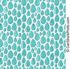 Doodle drops seamless pattern