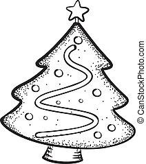 doodle, drzewo, boże narodzenie