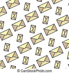 doodle, e-poczta, tło, komunikacja, wiadomość, technologia
