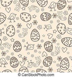 Doodle easter pattern