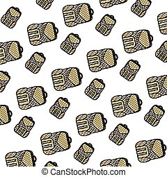 doodle education backpack school tool background