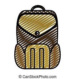 doodle education backpack school tool design