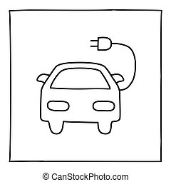 Doodle Electric Car icon