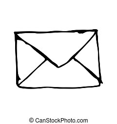 doodle email address icon drawing illustration design