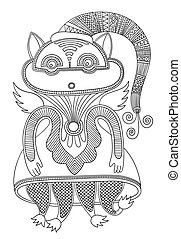 doodle fantasy monster personage