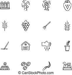 Doodle Farming icons set