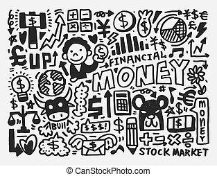 doodle, finanças, padrão