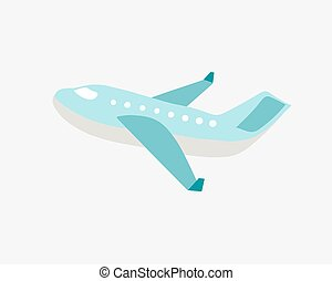 doodle flat vector illustration of airplane