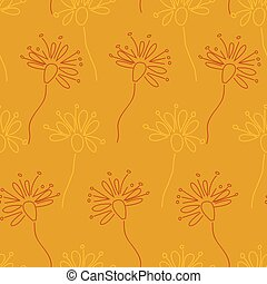 Doodle Floral pattern vector seamless flowers