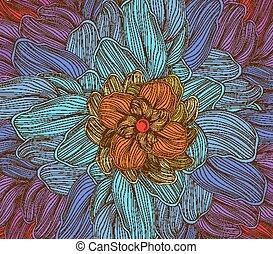 doodle florals art background