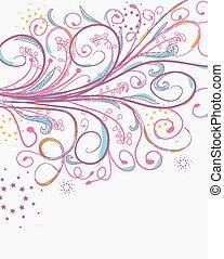 doodle florals vintage background