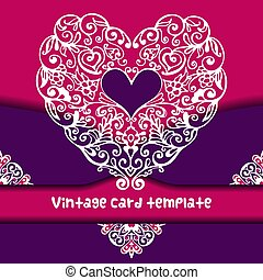 Doodle flourish ornate valentine heart in floral style