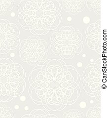 Doodle flower motif, low contrasting white drawing on light...