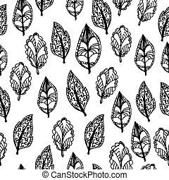 doodle foliage seamless