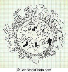 doodle, forurening