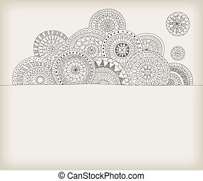 Doodle frame with copys-space
