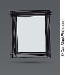 Doodle framework. Hand drawn. Vector illustration.