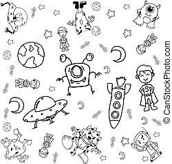 Doodle galaxy a funny