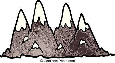 doodle, gama, caricatura, montanha