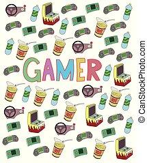 Doodle Gamer vector art