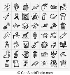 doodle gardening icon