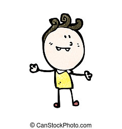 doodle, glade, cartoon, mand