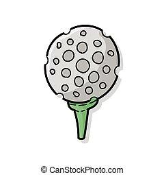 doodle, golf