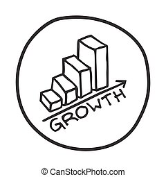 Doodle Growth Chart icon.