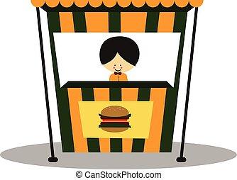 Doodle Hamburger Seller