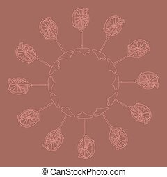 hand drawn monocycle pattern background, illustration of unicycle