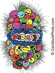 doodle, hand-drawn, spotprent