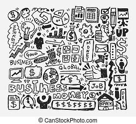 doodle, handlowy, element
